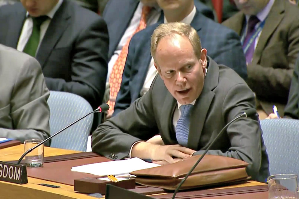 Ambassador Matthew Rycroft at the Security Council Briefing on Libya