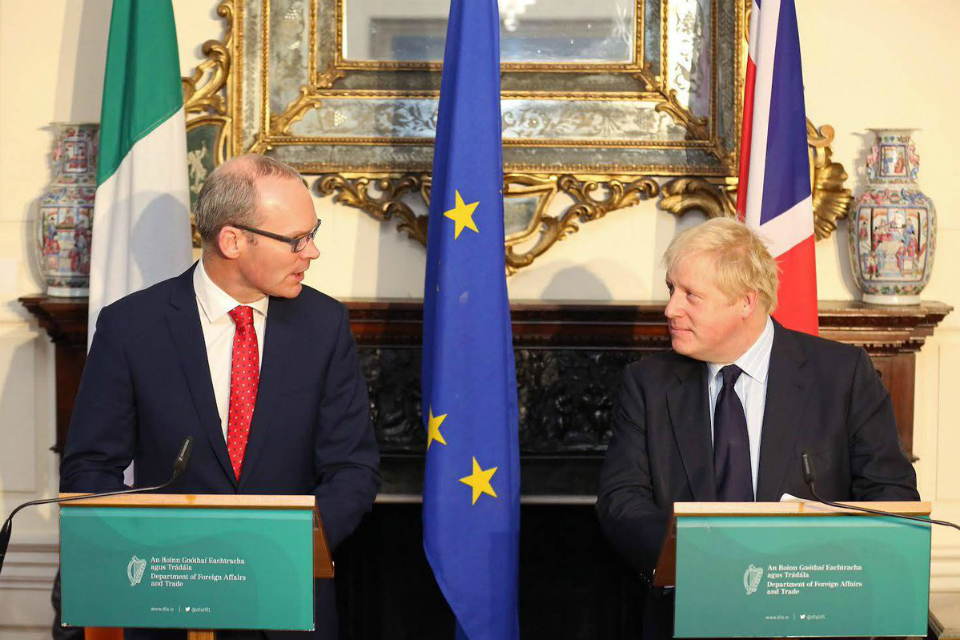 Foreign Secretary Boris Johnson visits Dublin