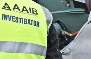 AAIB inspector on site