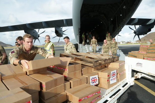 UK aid for the Caribbean after Hurricane Irma