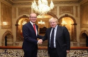 Boris Johnson & Simon Coveney