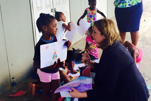 Penny Mordaunt in the Caribbean