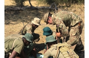 A patrol in map reading exercise