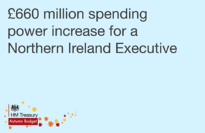 £660 million spending power increase for a Northern Ireland Executive - graphic with HMT logo