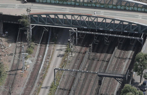 Aerial view of site of first near miss (image courtesy of Network Rail)