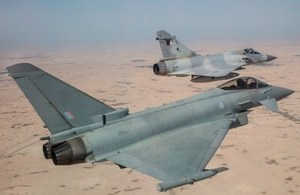 Royal Air Force Typhoons Begin Joint Training with QEAF