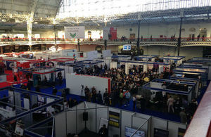 A view of all the stands at the Business Start-Up Exhibition London 2017