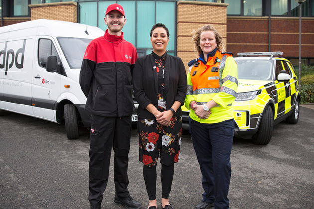Image showing customer service director Melanie Clarke and Highways England traffic officer Vicki Lawton