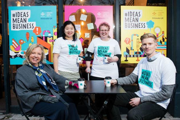 Deborah Meaden and Fanzi Down with ambassadors Alison Mayston and Luke Johnstone