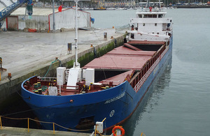 Cargo vessel Nortrader alongside
