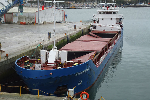Cargo vessel Nortrader alongside