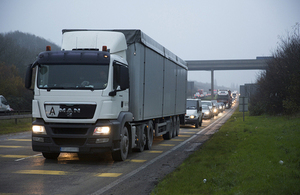 Lorry on road