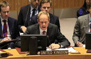 Ambassador Matthew Rycroft at the Security Council Emergency Session on Jerusalem