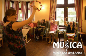 A Musica Music workshop - play that tambourine!