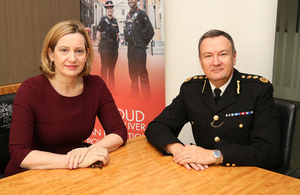 Home Secretary Amber Rudd and the Commissioner