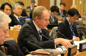 Ambassador Matthew Rycroft speaking on human rights violations in North Korea following UN Security Council briefing.