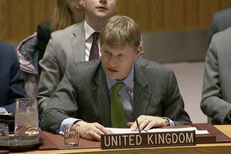 Ambassador Jonathan Allen at the Security Council Briefing on Burma