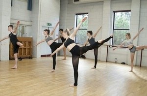 Learners doing ballet