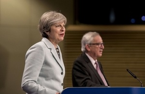 Prime Minister Theresa May meets with European Commission President Jean-Claude Juncker in Brussels.    The European Union and the United Kingdom of Great Britain and Northern Ireland presented a joint report on progress of negotiations under Article 50.