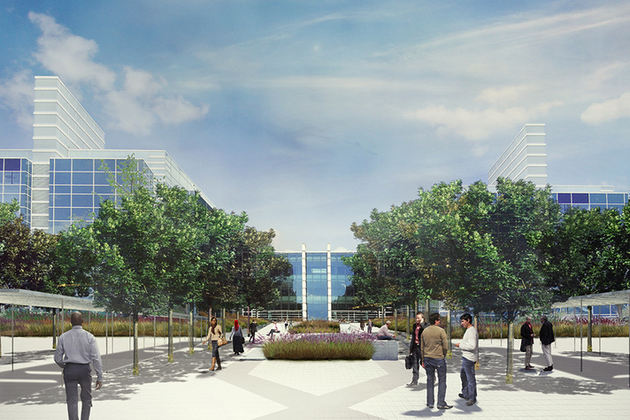 Artist's impression of new Harlow campus