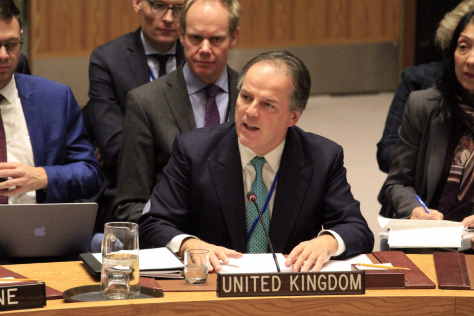 Mr. Mark Field MP, Minister of State for Asia and the Pacific, at the UN Security Council Ministerial Briefing on North Korea