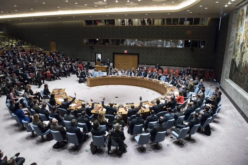 UN Security Council vote on draft resolution on Jerusalem. (UN Photo/Kim Haughton)