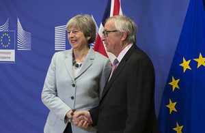 PM Theresa May and Jean-Claude Juncker