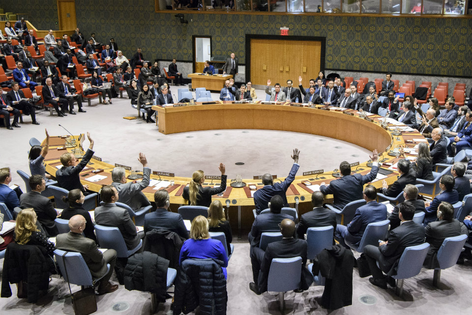 The Security Council unanimously adopts resolution 2397 (UN Photo/Manuel Elias)