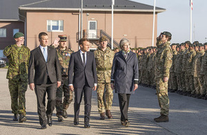 Theresa May in Tapa, Estonia