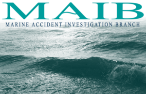 MAIB logo with seascape