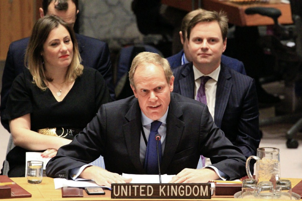Ambassador Matthew Rycroft at the Security Council briefing on Colombia