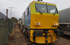 Image of maintenance train involved (photographed at Slateford depot)