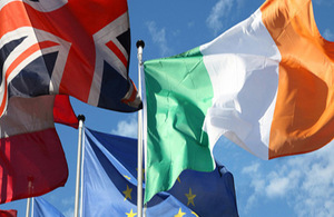 British Irish flags