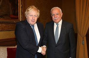 Boris Johnson with Riyad AlMalki