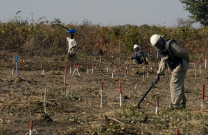 Mines Advisory Group (MAG) deminers at work in Angola. Picture: MAG