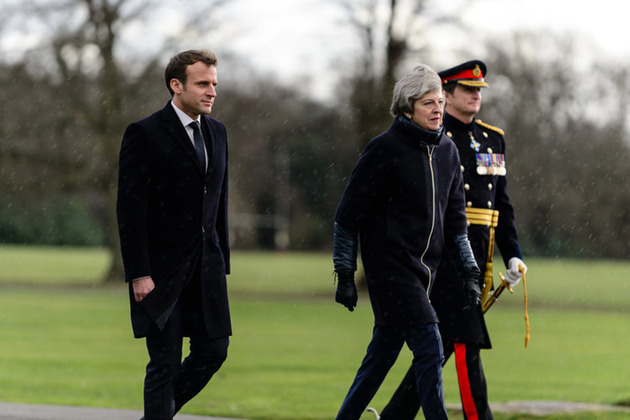 Prime Minister Teresa May and French President Macron