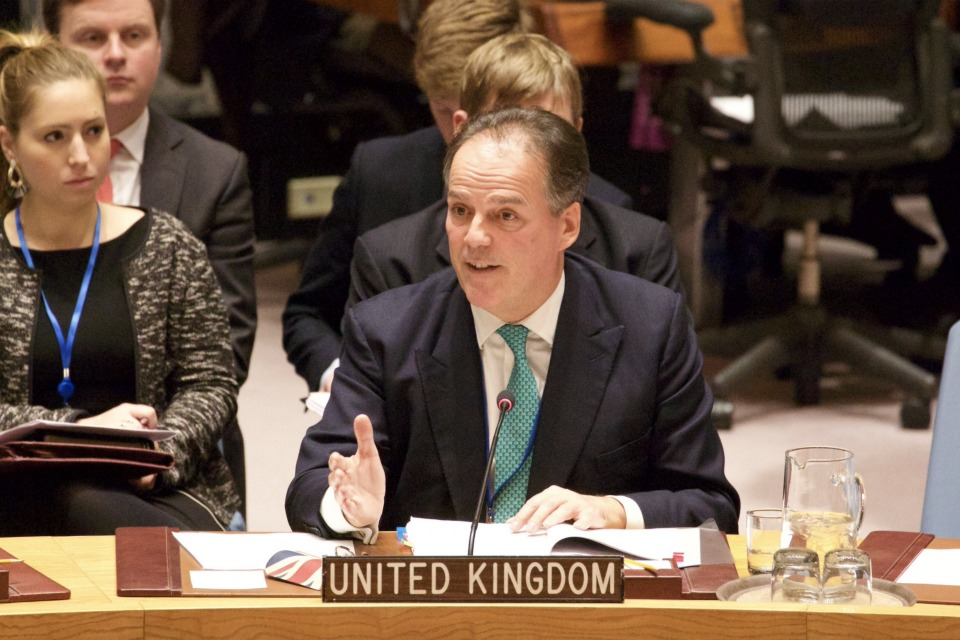 Minister Mark Field speaking at the UN Security Council