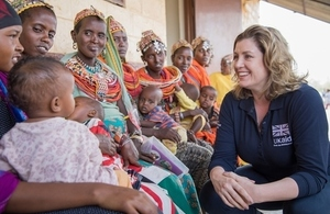 Penny Mordaunt visiting a UNICEF supported clinic in drought-affected Northern Kenya. Picture: Anna Dubuis/DFID