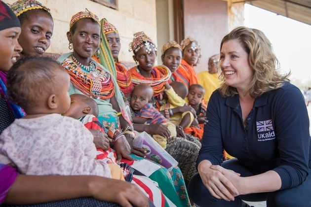 Penny Mordaunt in Kenya. Picture: Anna Dubuis/DFID