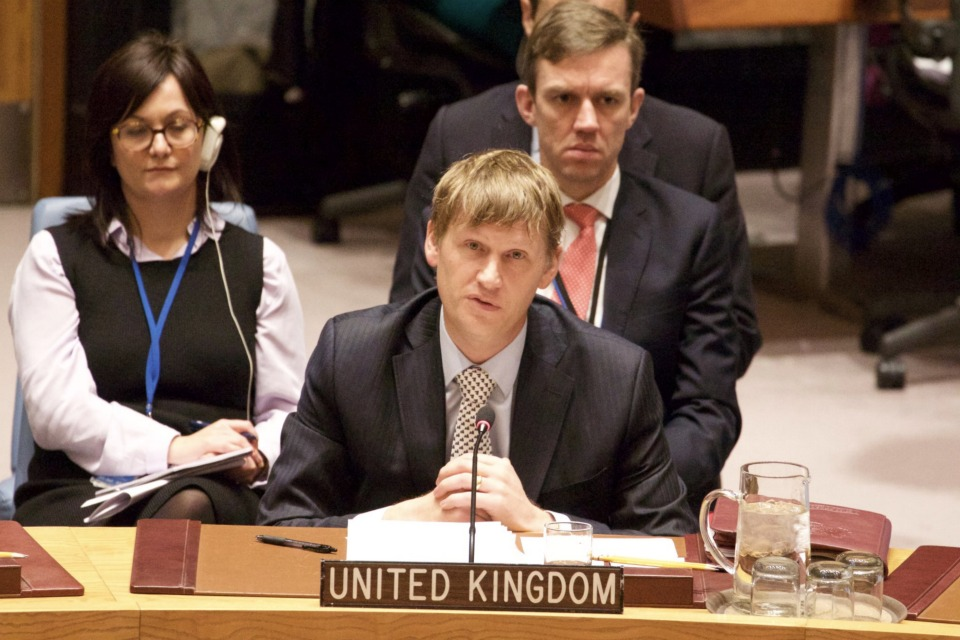 Ambassador Jonathan Allen at UN Security Council briefing on Syria Humanitarian Issues