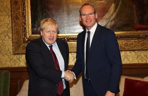 Boris Johnson with Simon Coveney
