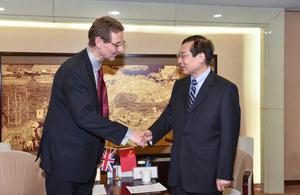 CEO Ian Hudson met with Minister Bi in Beijing.