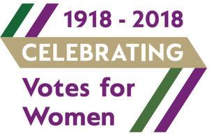 Women's suffrage centenary logo