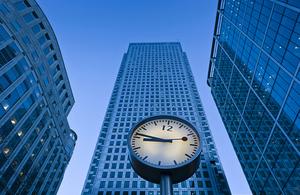 London finance skyline