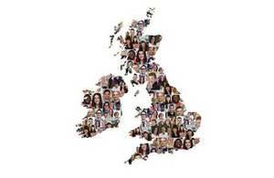 People on UK map