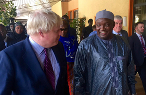 Foreign Secretary with President Barrow of The Gambia.