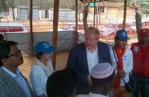 Boris Johnson meets Rohingya refugees in Cox's Bazar, Bangladesh. Photo credit: UNB website.