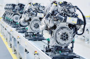 Engines on an assembly line by Hamik at Shutterstock