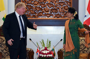 Foreign Secretary Boris Johnson meets Aung San Suu Kyi in Burma