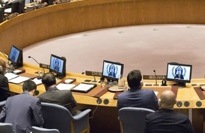 UN High Commissioner for Refugees Filippo Grandi briefs the Security Council on Burma